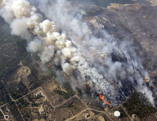 SD wildfire from above
